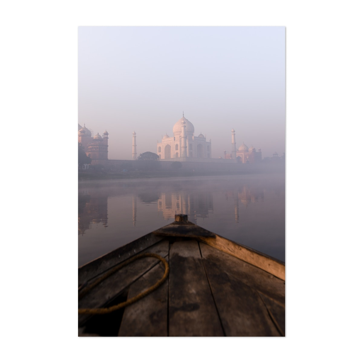 Foggy Taj Mahal From Boat