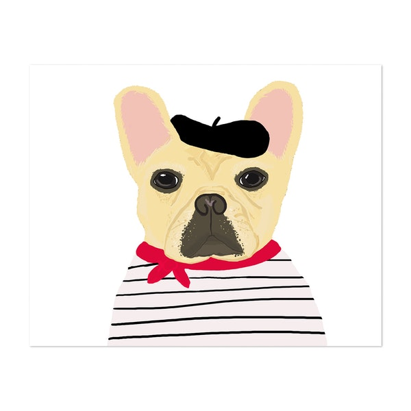 French Bulldog Illustration by 12 Past 7 Designs by Kait Cole