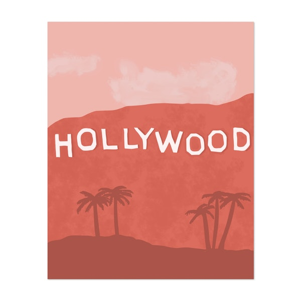 Hollywood Sign Illustration by 12 Past 7 Designs by Kait Cole