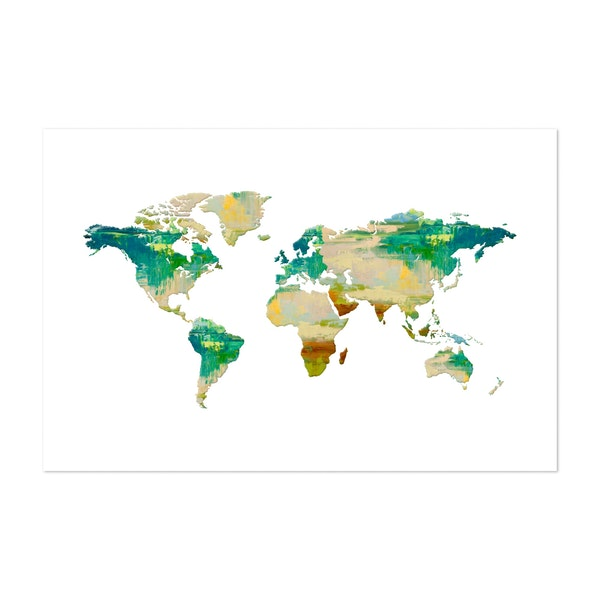 Oil Paint World Map by Art Design Works