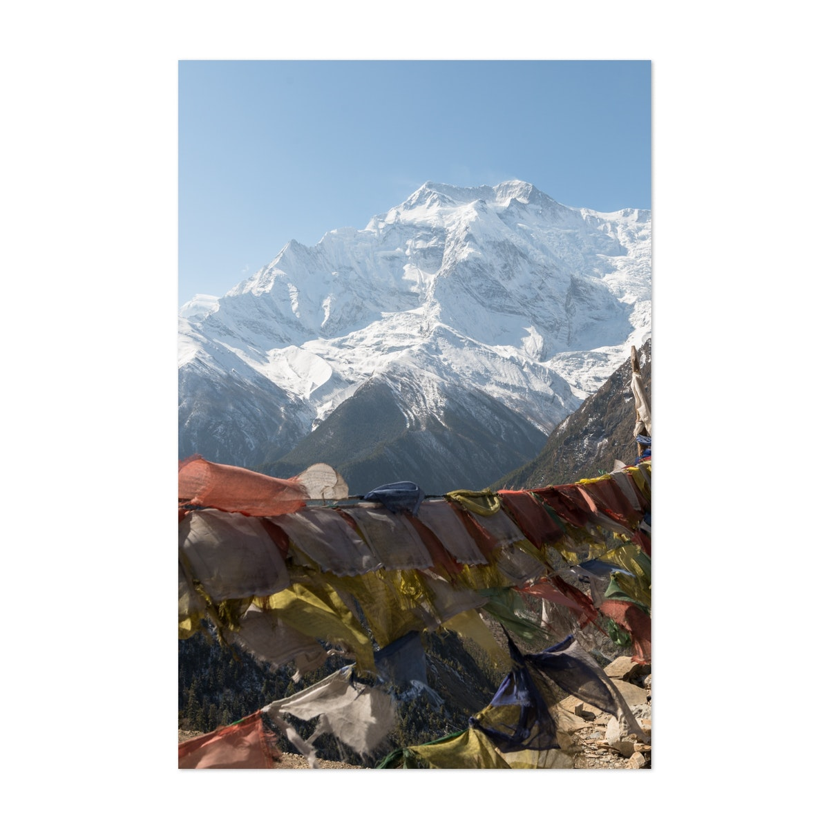 Prayer Flags and the Mountain Face
