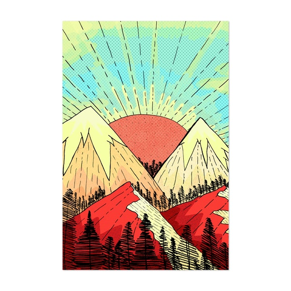 Retro Mountains by Steve Wade