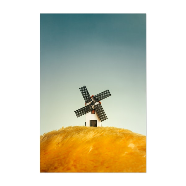 Tiny Windmill on the Prairie by Muhammad Hardi Saputra