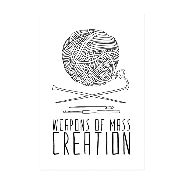 Weapons Of Mass Creation - Knitting by Bianca Green