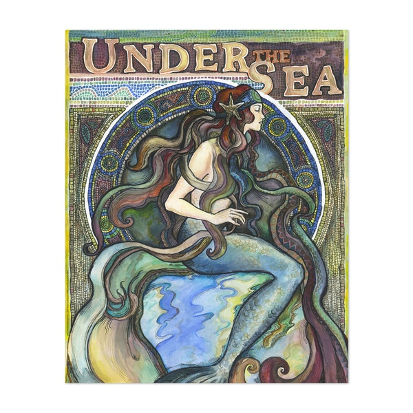 Art Nouveau Mermaid by FanitsaArt
