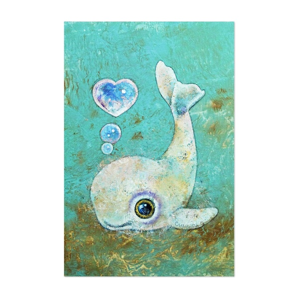 Baby Whale - Children's Art by Michael Creese