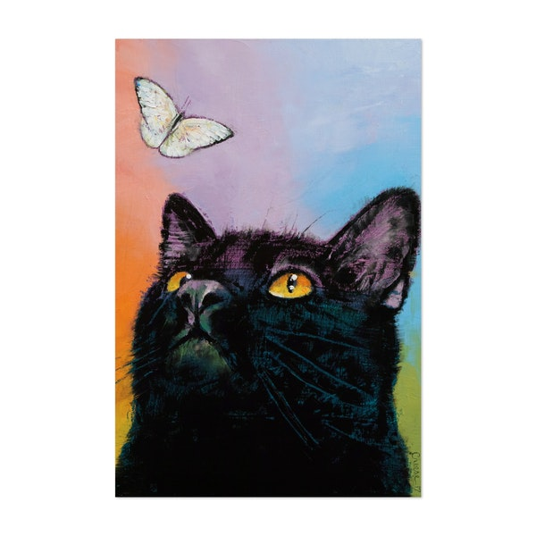 Black Cat - Butterfly by Michael Creese