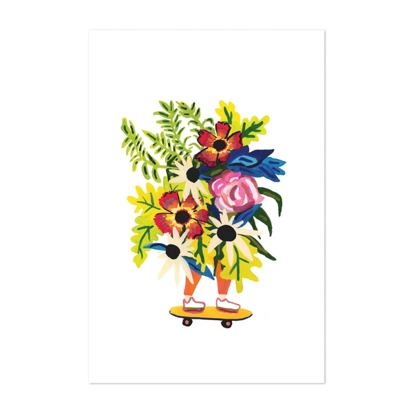 Floral Skater Babe by The Small Creative