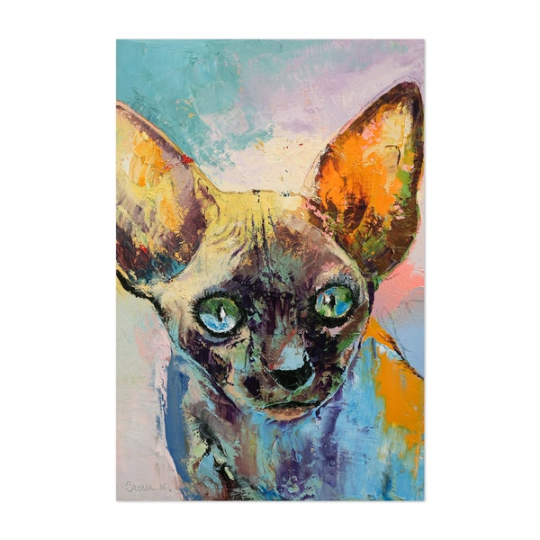 Sphynx Cat Portrait by Michael Creese