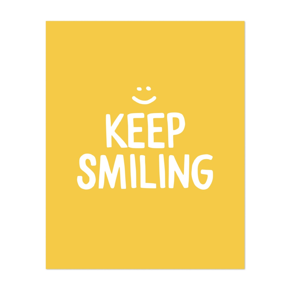 Keep Smiling - Yellow