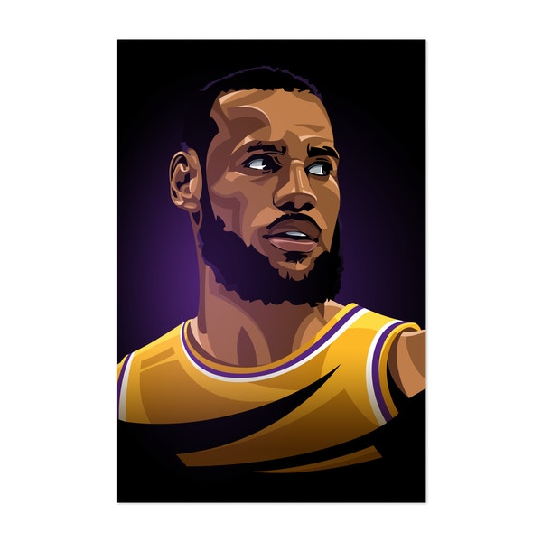 LeBron James by Nikita Abakumov
