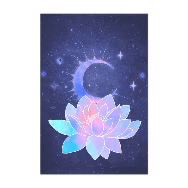 moon lotus flower by vita