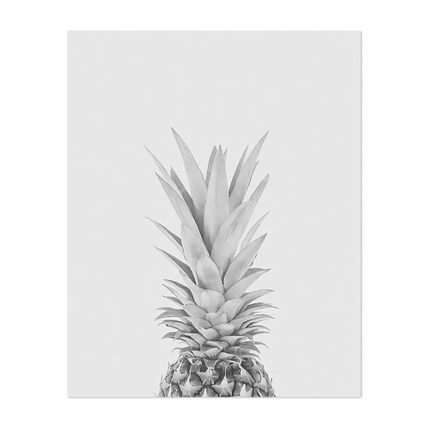 Pineapple a Day - Black and White by JC Studios
