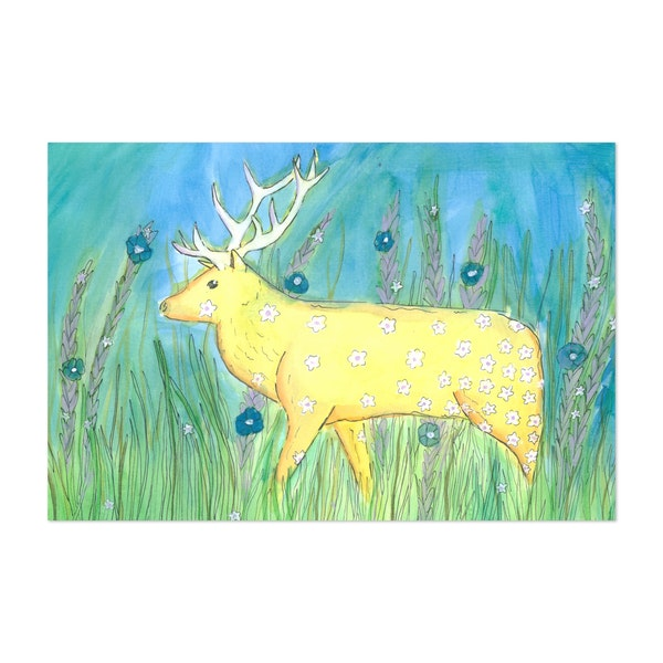 Caribou and Lavender by Alison Love