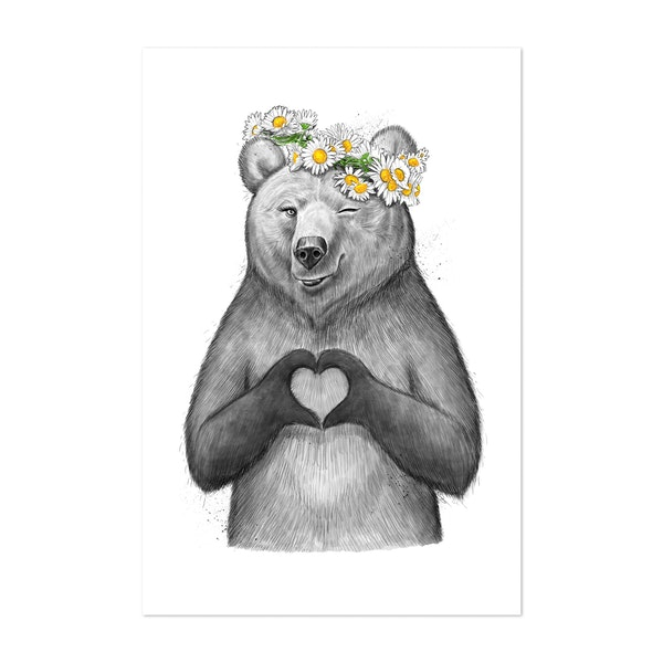 Girl Bear with love by NikKor