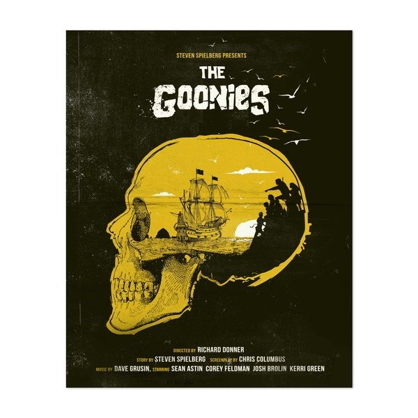 The Goonies Movie Poster by Golden Planet Prints