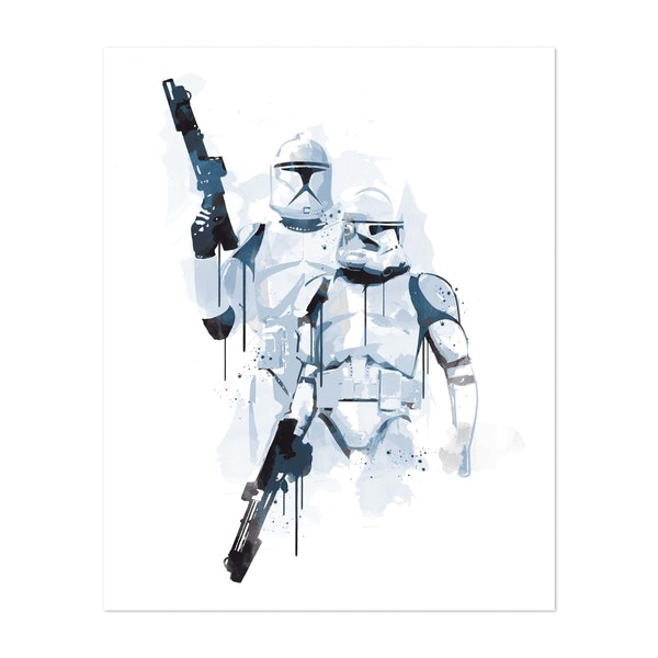 Troopers Watercolor by Golden Planet Prints