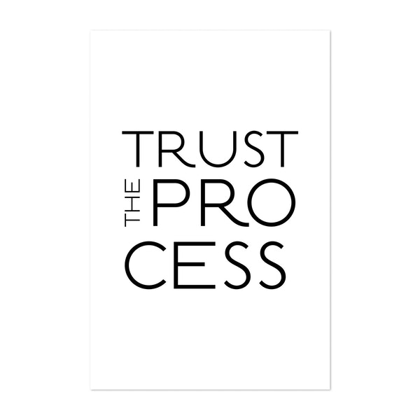 Typo Trust The Process White by Andrea Haase