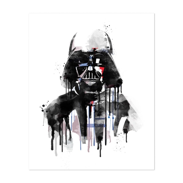 Vader Watercolor by Golden Planet Prints