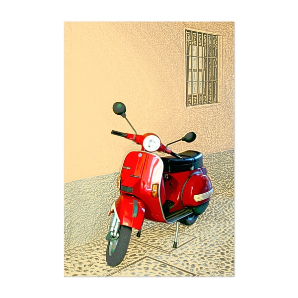 Vespa in red by anipani