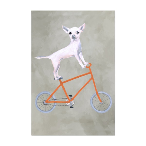 Chihuahua On Bicycle by Coco de Paris