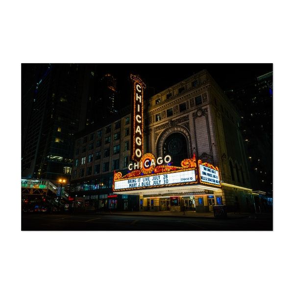 The Chicago Theater by Jon Bilous