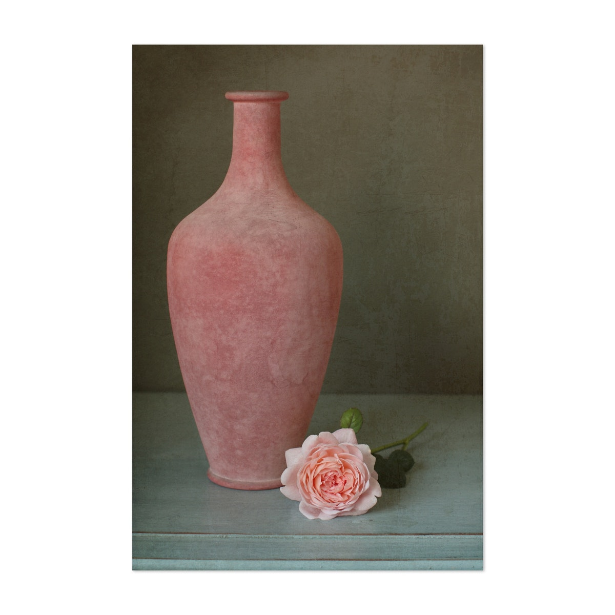 Pink Vase and Rose Still Life
