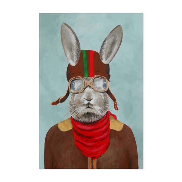 Rabbit With Vintage Helmet by Coco de Paris