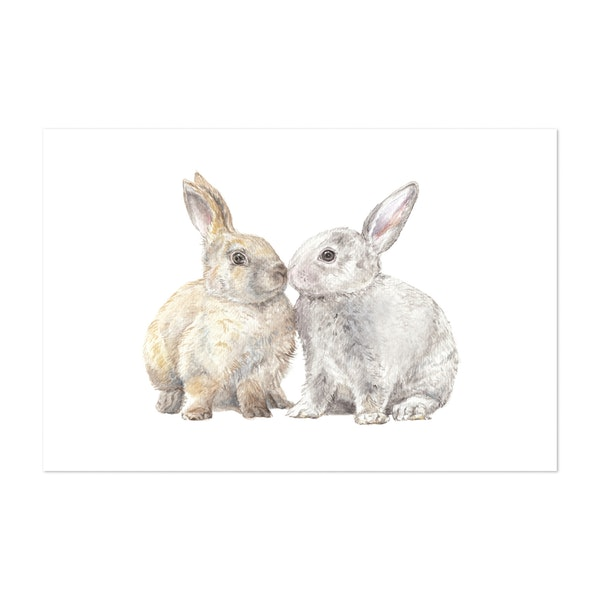 Snuggle Bunnies by Wandering Laur Fine Art