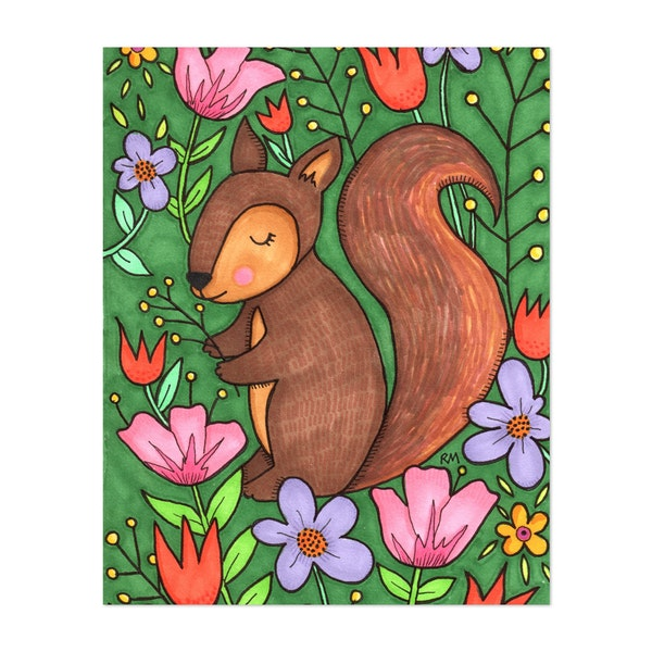 Spring Squirrel by Ruth Miller
