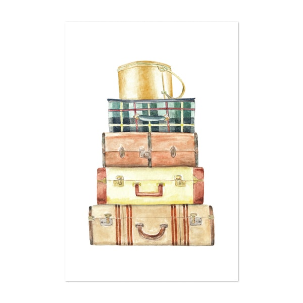 Vintage Suitcases by Wandering Laur Fine Art