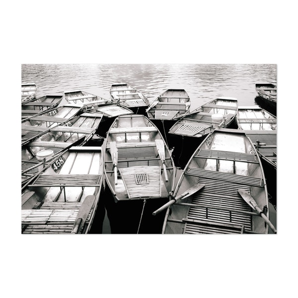 Boats on the River in Vietnam by Sidecar Photo