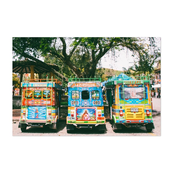 Cheerful Painted Tuk Tuks in Colombia by Sidecar Photo