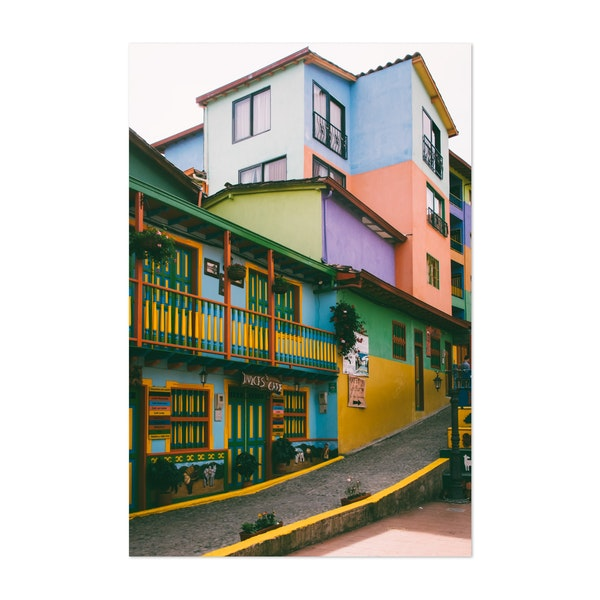 Colorful Painted Buildings in Guatape Colombia by Sidecar Photo