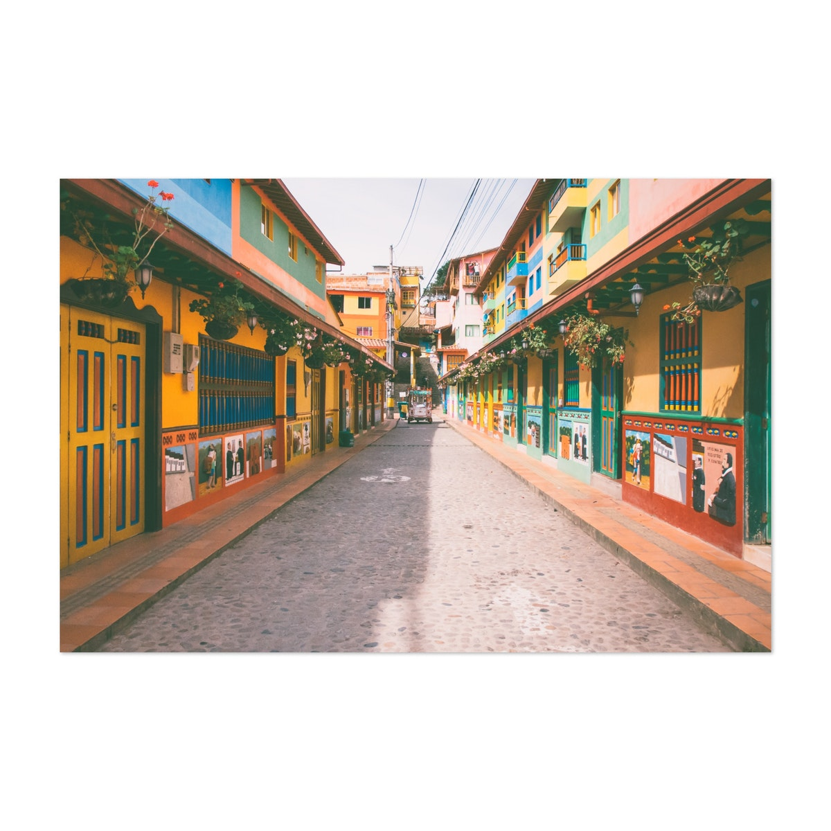 Colorful Street in Guatape Colombia