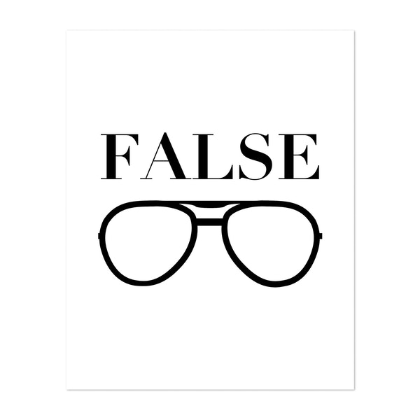 False and Glasses, Dwight Schrute, The Office Quote by Typologie Paper Co