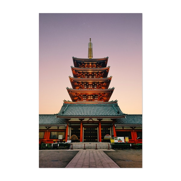 Five storey Pagoda in Tokyo Japan by Sidecar Photo