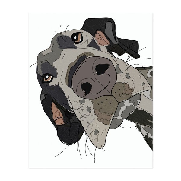 In Your Face Great Dane by Whitney Niesz   Sketch and Paws