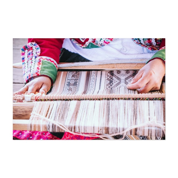 Intricate Incan Weaving in Peru by Sidecar Photo