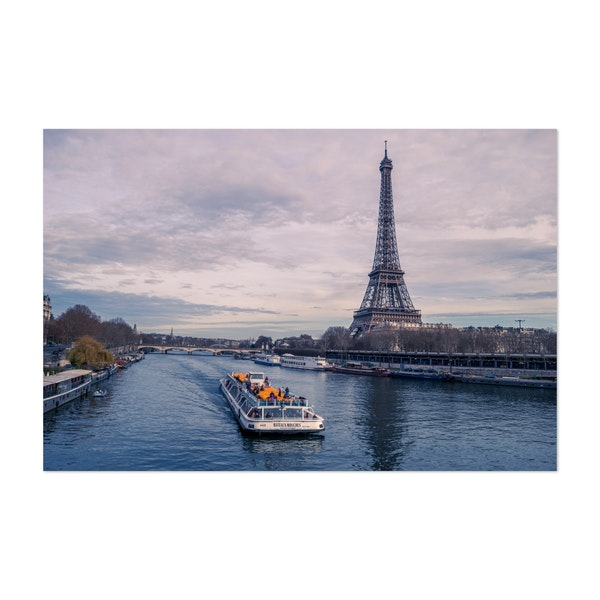 Riverboat next to the Eiffel Tower by Christos Karydis
