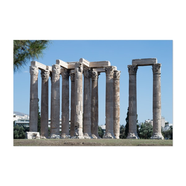 The Columns of the Temple of Olympian Zeus by Christos Karydis