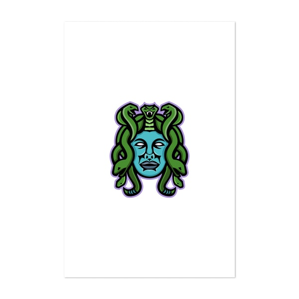 Medusa Greek God Mascot by Patrimonio Designs Limited