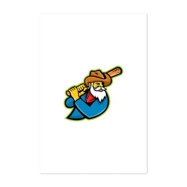 Miner Baseball Player Mascot by Patrimonio Designs Limited