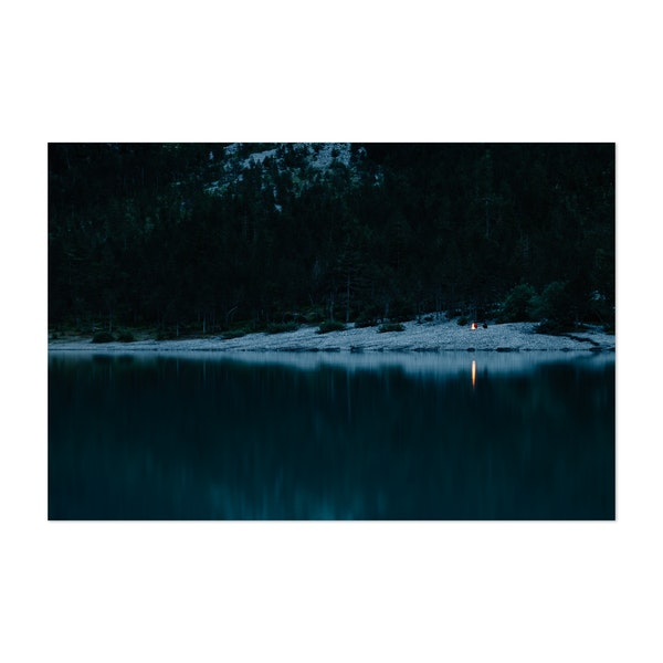 Camping by the lake by Emilien Gigandet