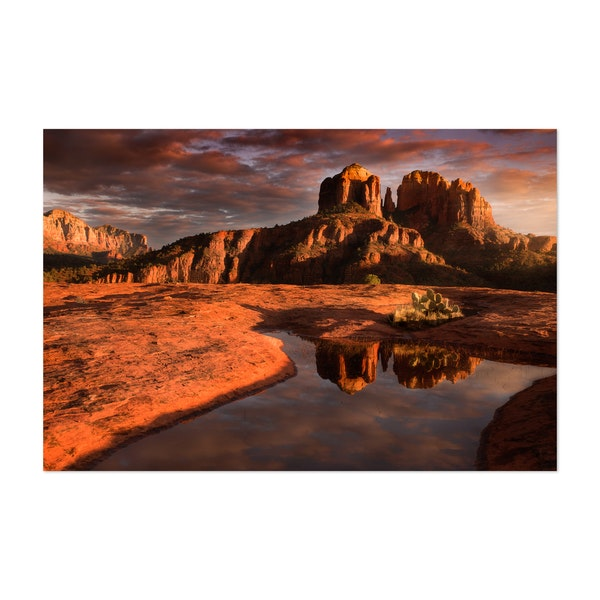 Red Rock Sunset by Mike Perea