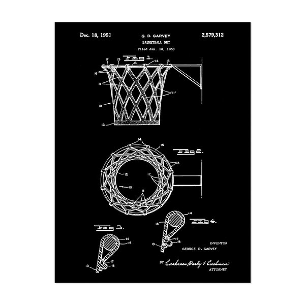 Basketball net, 1950-Black by Bill Cannon
