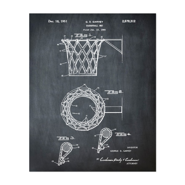 Basketball net, 1950-Chalkboard by Bill Cannon