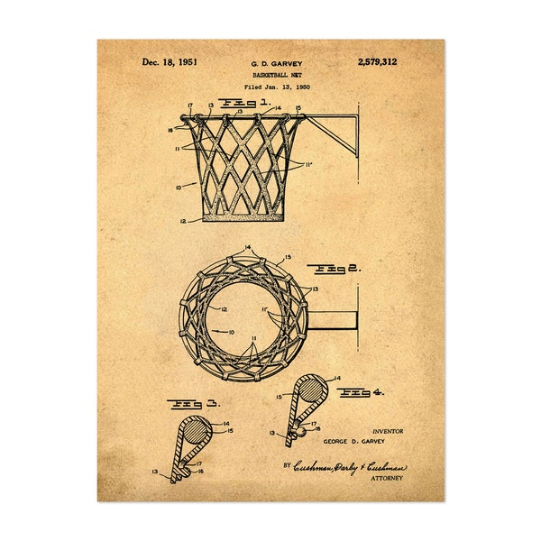 Basketball net, 1950-Antique I by Bill Cannon
