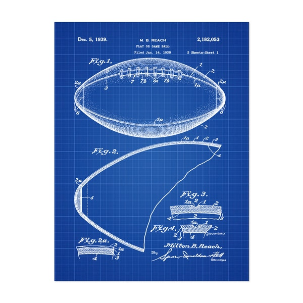 Football, 1938-Blue II by Bill Cannon