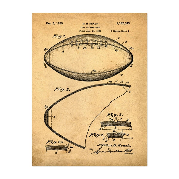 Football, 1938-Antique by Bill Cannon